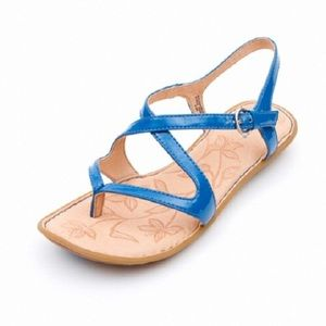 Born Nahala Sandal in Blue Patent 8